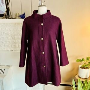 Gorgeous NineWest Soft Wool In Plum Colour Jacket